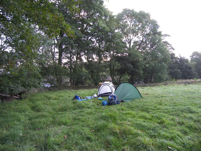 Our camp slowly transforms into two very heavy rucksacks