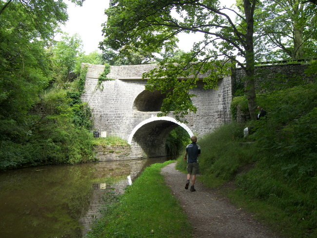 Double-bridge over the Leeds to Liverpool Canal