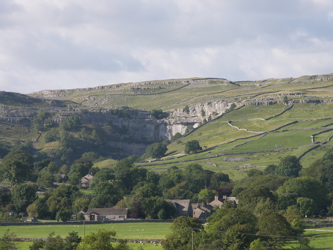 First view of Malham Cove
